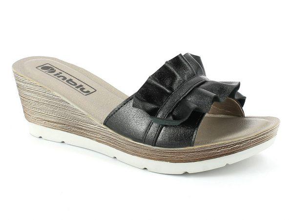 Sandalo da donna zeppa alta colore nero