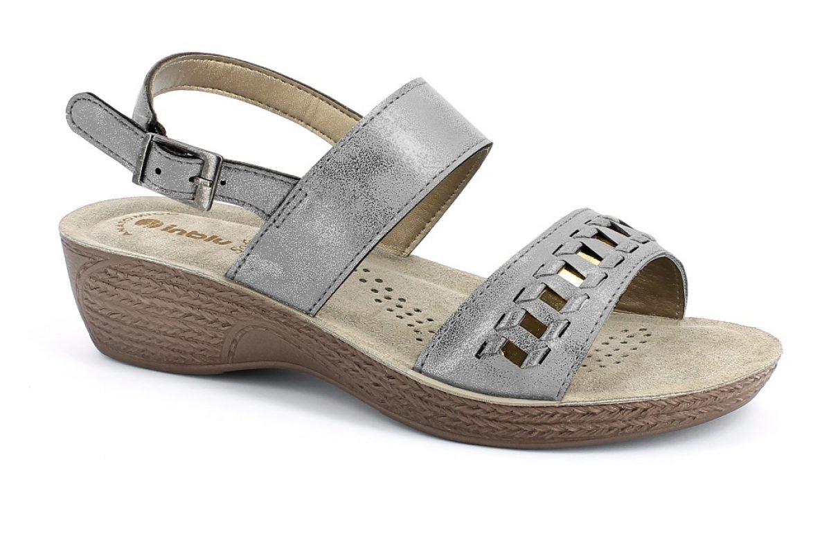 Sandalo donna inblu GL 22 grigio Canna di Fucile