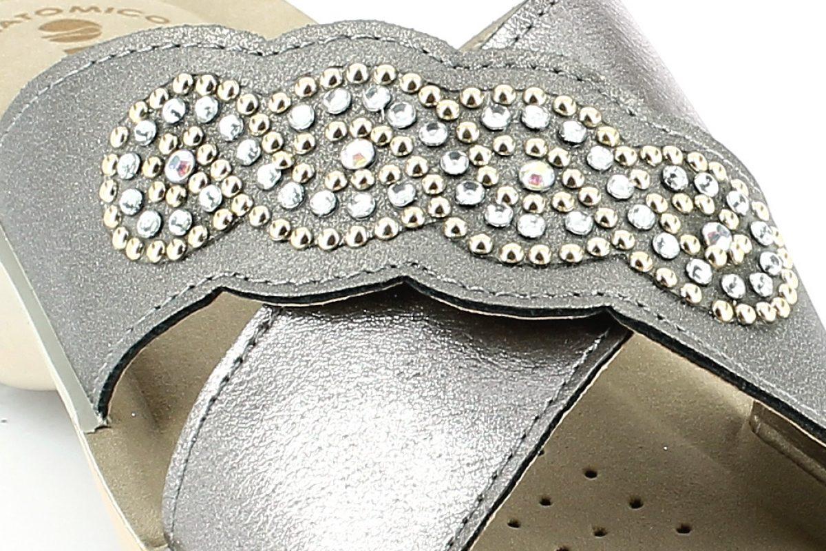 Ciabatta donna inblu NF 10 grigio canna di fucile dettaglio tomaia