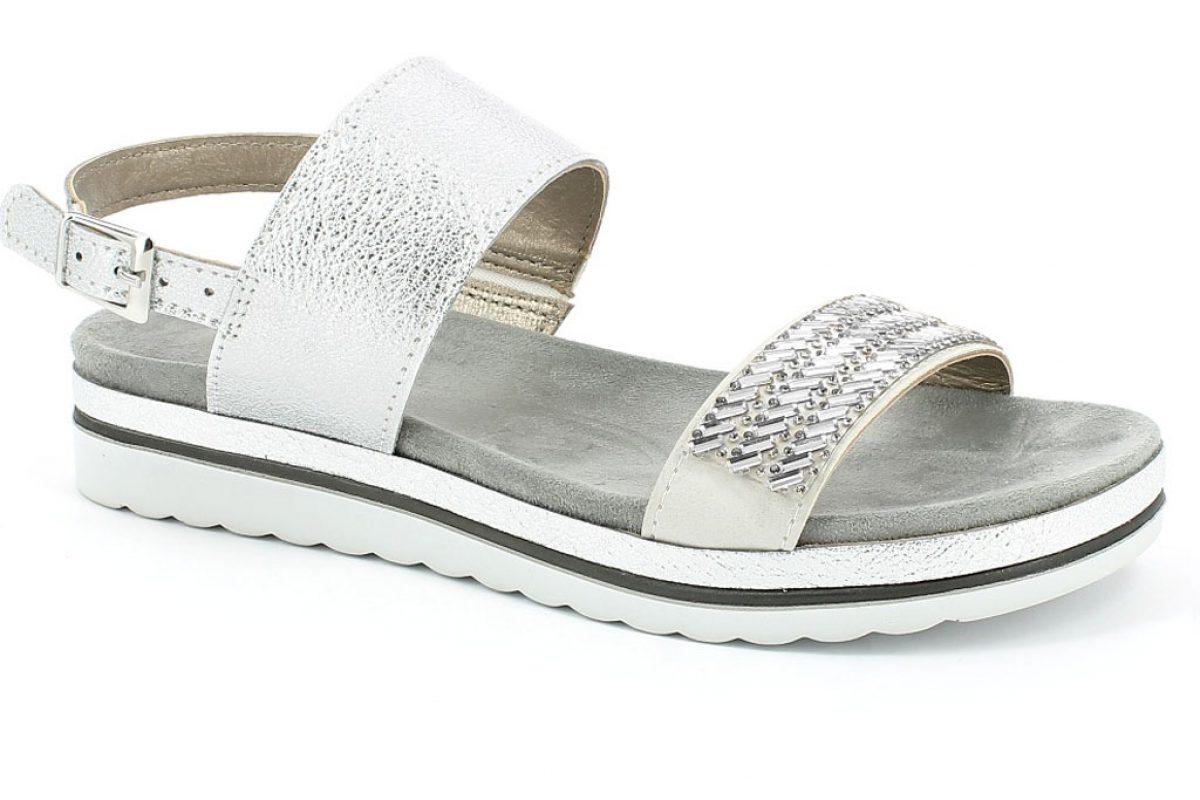 sandalo da donna colore argento