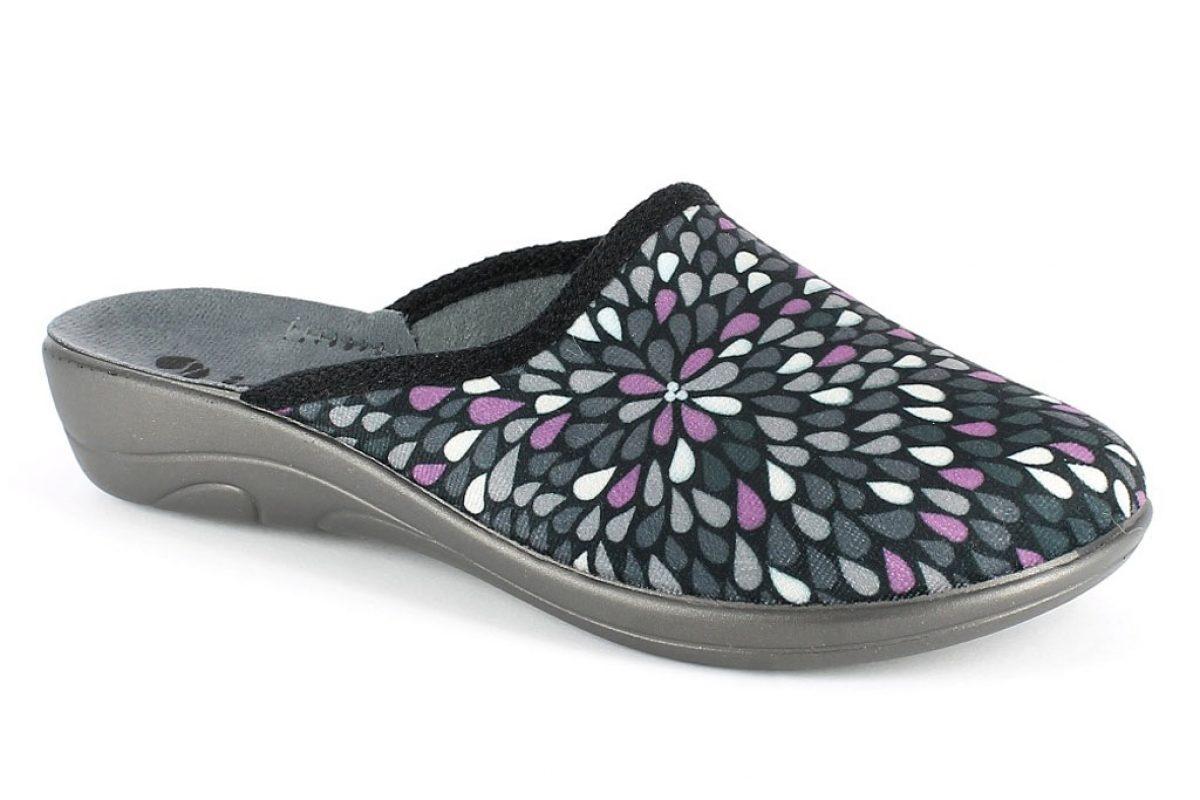 Pantofola donna inblu 5D 10 colore antracite