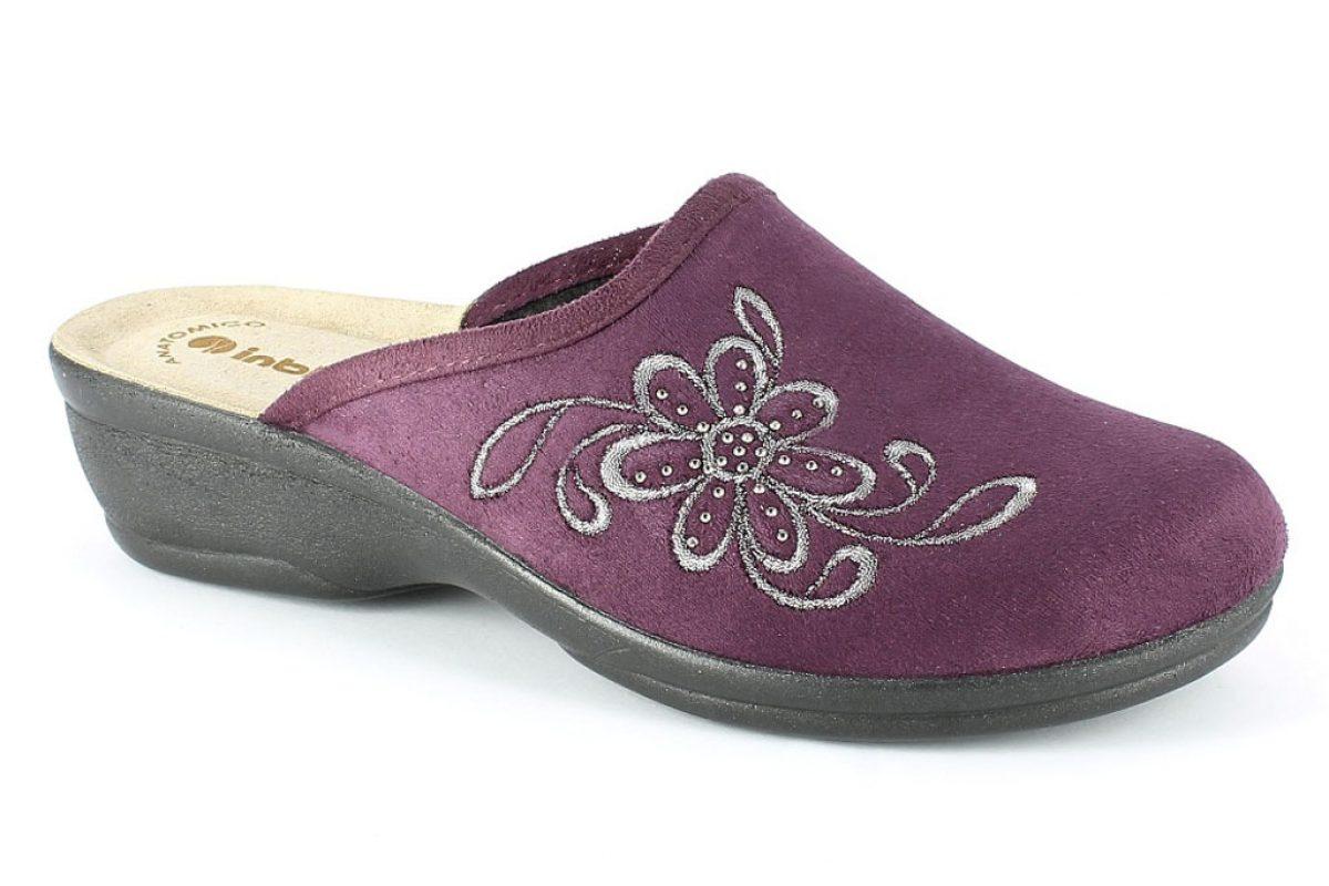 Pantofola donna inblu bj 100 prugna