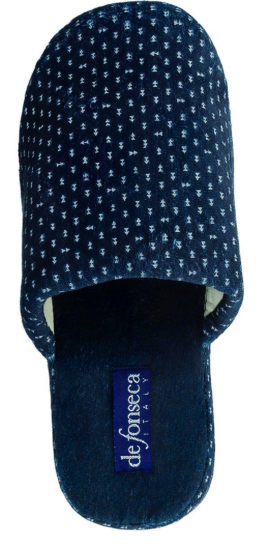 Pantofola uomo De fonseca Roma Top I M511 Blu fantasia
