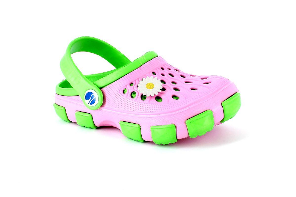 Crocs bambino Inblu FV116123 Rosa e Verde